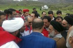 دبیر کل جمعیت هلالاحمر کشور از مناطق سیلزده لرستان بازدید کرد
