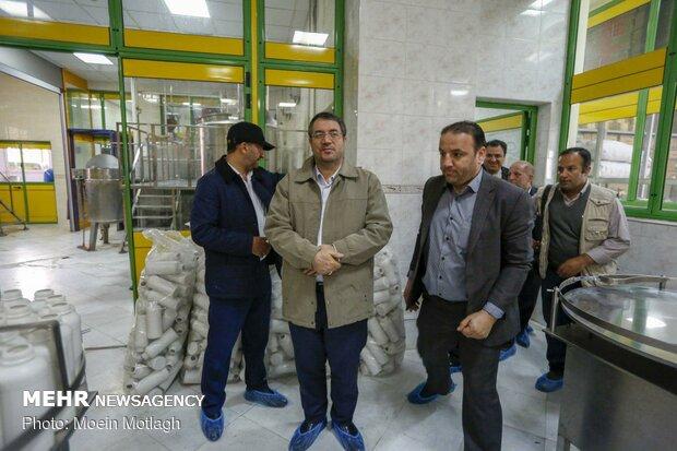بازدید رضا رحمانی وزیر صنعت، معدن و تجارت از صنایع آسیب دیده گلستان