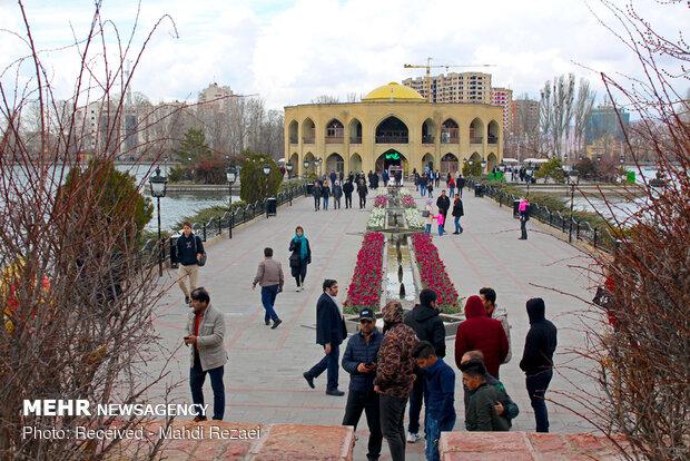 Tebriz'deki El-Gölü Parkı'ndan fotoğraflar