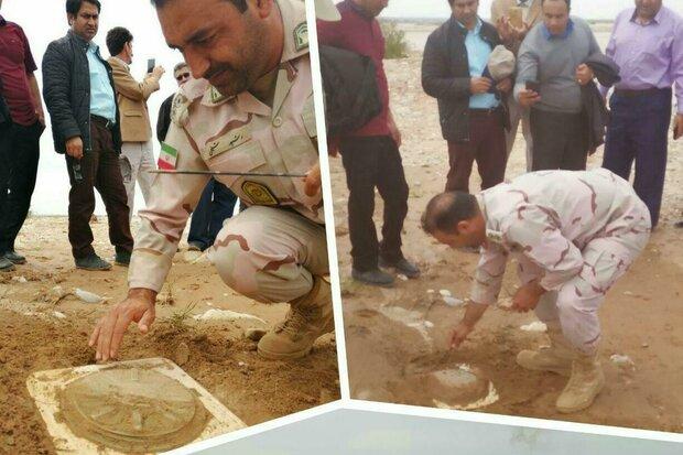کشف مین ضدتانک باقیمانده از جنگ در مرز ایران و عراق