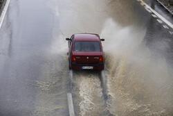 لاین جنوبی آزادراه قزوین- رشت مسدود شد