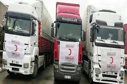 ۵ دستگاه کامیون حامل کمک های ترکیه وارد کشور شد