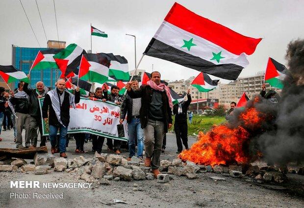 اعتراضات فلسطینی ها در غزه و کرانه باختری