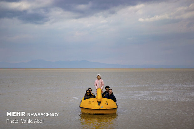 Lake Urmia water level rises after heavy rains