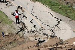 رانش زمین در مسیر خوی به پایانه رازی/۱۷ منزل آسیب دید