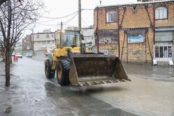 بارشهای رگباری منجر به آبگرفتگی معابر خرمآباد شد