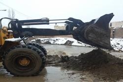 بکارگیری ماشین آلات شهرداری گرگان برای امدادرسانی به سیل زدگان