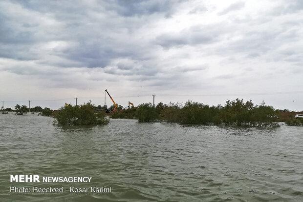 سوسنگرد کو سیلاب سے شدید خطرہ