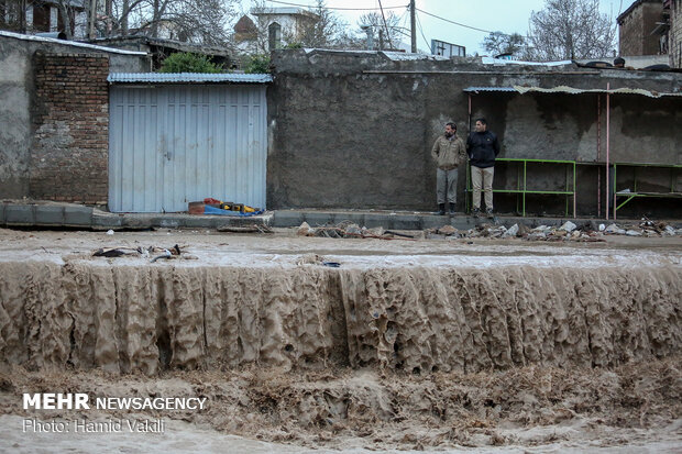 Flood damage in Khorramabad