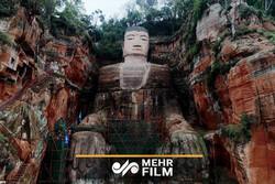 بزرگترین مجسمه سنگی بودا بازسازی شد