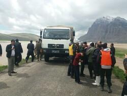 تخلیه روستاهای در معرض سیل هرسین و صحنه با کمک سپاه