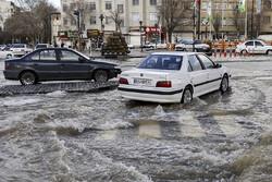 بارش باران و تگرگ در استان البرز/احتمال آبگرفتگی معابر