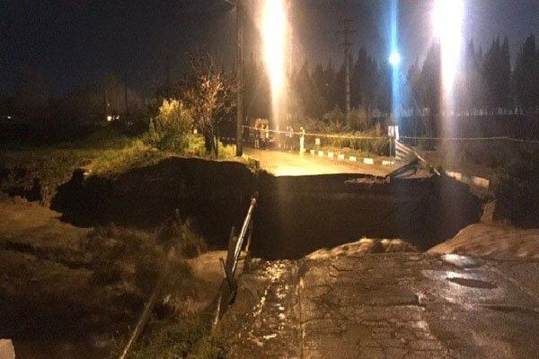 پل تخریب شده گلدسته به گلشهر بخش چهاردانگه به سرعت احداث میشود