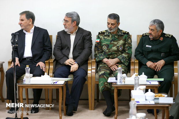 Leader's meeting with officials on relief operations to flood-hit areas