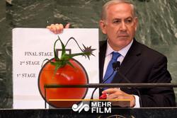 اسرائیلی وزیر اعظم پر ٹماٹر سے حملہ
