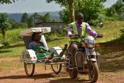 آمبولانس های دوچرخه ای در اوگاندا