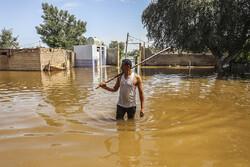 سیلاب وارد شهر گوریه شد /منازل در حال تخلیه شدن هستند