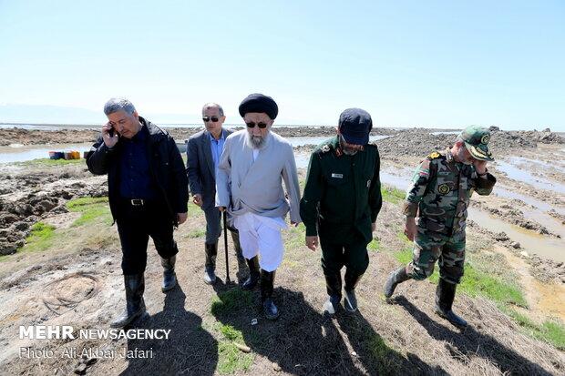بازدید سید کاظم نورمفیدی نماینده ولی فقیه در گلستان از آخرین وضعیت سیل زدگان
