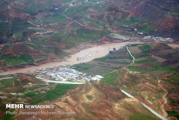 جدیدترین تصاویر هوایی از مناطق سیل زده پلدختر