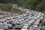 ترافیک سنگین در محور کرج-چالوس/هراز بارانی است