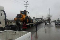 ماشین آلات سنگین بنیادمسکن قزوین به مناطق سیل زده لرستان ارسال شد
