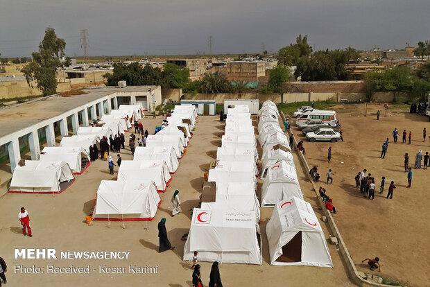 محل اسکان سیلزدگان خوزستان به ۲۶ اردوگاه کاهش یافت