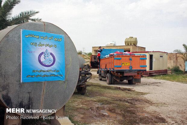 اردوگاه اسکان سیل زدگان شهر الهایی حاشیه اهواز