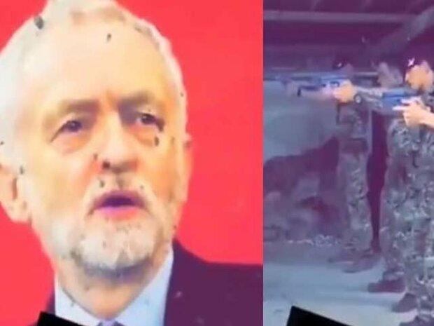 برطانوی فوج کی اپوزیشن لیڈر کی تصویر پر نشانہ بازی کی ویڈیو وائرل