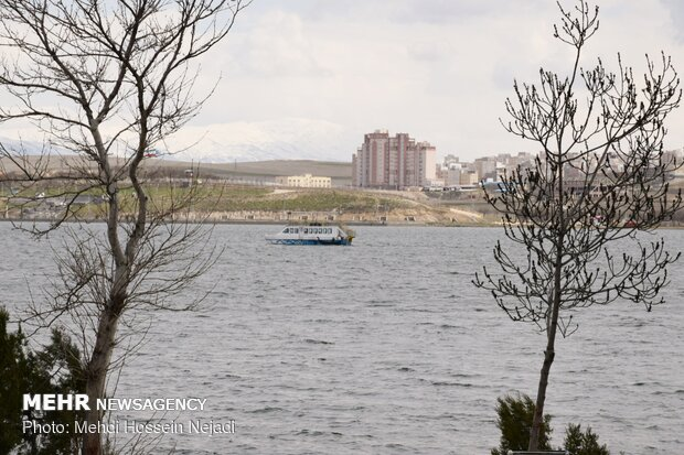 Springtime in Shorabil Lake with breathtaking views