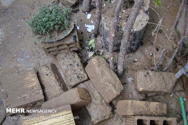خسارت سیلاب به منازل در خرم آباد
