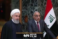 استقبال رسمی حسن روحانی از نخست وزیر عراق