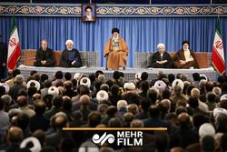 پاسخ رهبرانقلاب به صحبتهای رئیس جمهور در دیدار روز مبعث