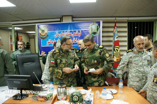 Armed Forces officials' meeting for flood-hit Lorestan prov.