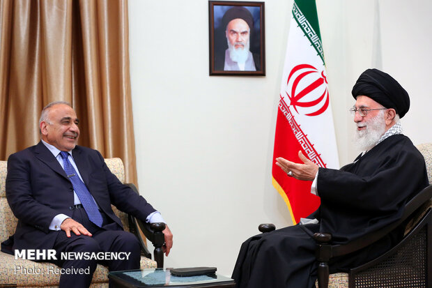 Leader's meeting with Iraqi PM, his entourage