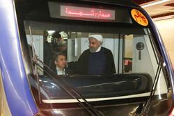 إفتتاح الخط السادس من مترو انفاق طهران بحضور الرئيس حسن روحاني