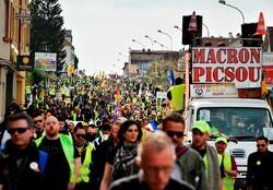 فرانس میں پیلی جیکٹ والوں کے مظاہرے 23ویں ہفتے بھی جاری