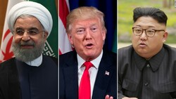Hassan Rouhani, Donald Trump, and Kim Jong Un