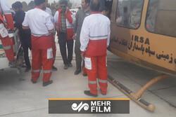 همکاری هوانیروز سپاه و هلال احمر برای کمکرسانی به سیل زدگان