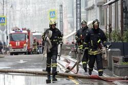 حریق گسترده در مسکو/ ۳۰۰ نفر مجبور به ترک خانههایشان شدند