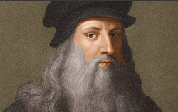 A portrait of Leonardo da Vinci.