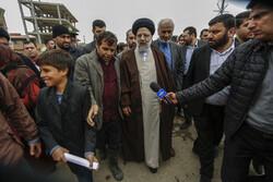 İran Yargı Erki Başkanı Reisi, sel bölgelerini ziyaret etti