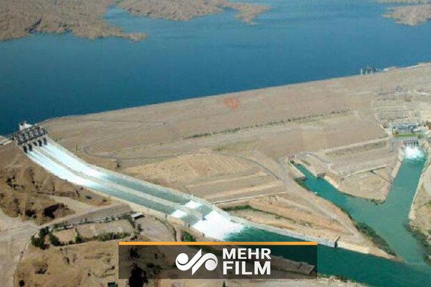 کرخہ ڈیم کی ہوائی تصویریں