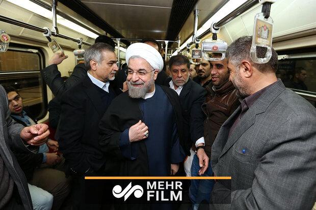 صدر حسن روحانی نے تہران میں مٹرو کی چھٹی لائن کا افتتاح کردیا
