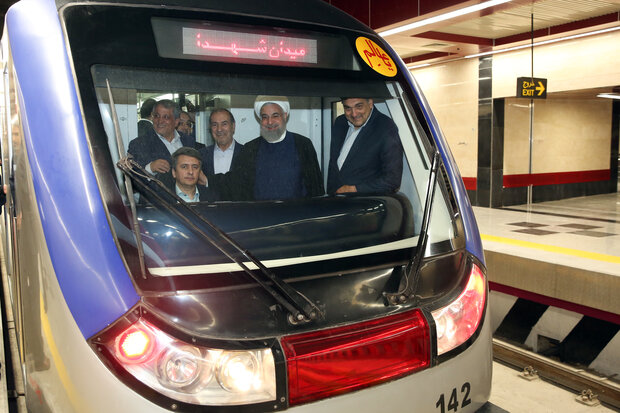 Phase 1 of Tehran Metro Line 6 inaugurated in Rouhani's presence