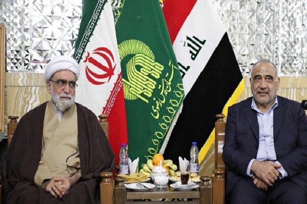 نخست وزیر عراق با تولیت آستان قدس رضوی دیدار کرد