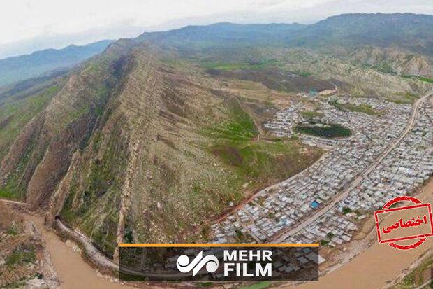 لرستان کے علاقہ معمولان میں سیلاب کی صورتحال