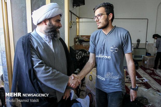 سرکشی رئیس سازمان تبلیغات اسلامی از فعالیت طلبه های جهادی در معمولان
