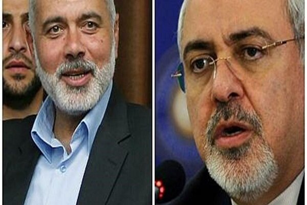 Zarif, Hanyieh discuss regional developments over phone