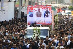 بندر عباس میں وزارت دفاع کے شہیدوں کی تشییع جنازہ