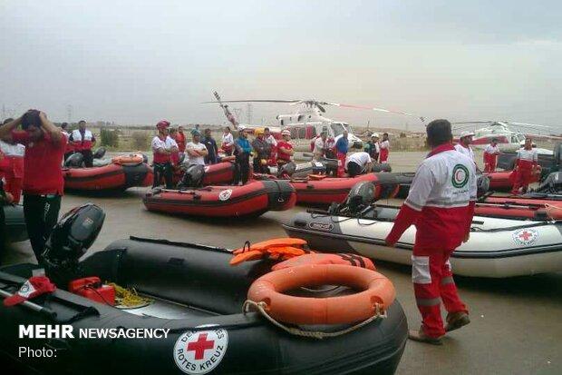اعزام ۲۸ فروند شناور سبک مردمی هرمزگان به مناطق سیل زده خوزستان